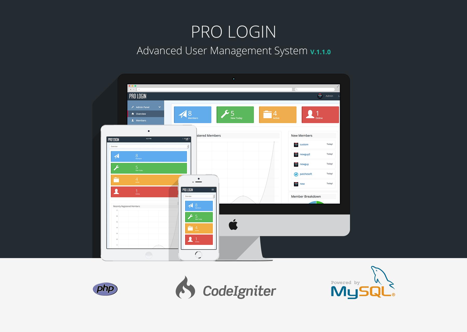 Pro Login Content - CMS Secure User Management System Download